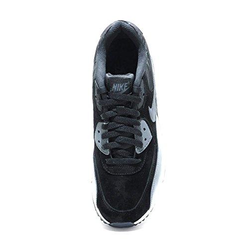 NIKE Air Max 90 en cuir pour femme, noir/gris, taille: 44,5