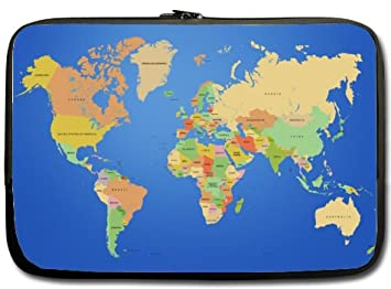 Amazon.com: High Quality World Map Water Resistant Neoprene ...
