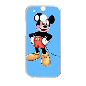 HTC One M8 Cell Phone Case White Mickey Mouse 011 Basic Cell Phone Carrying Cases LV_6073219