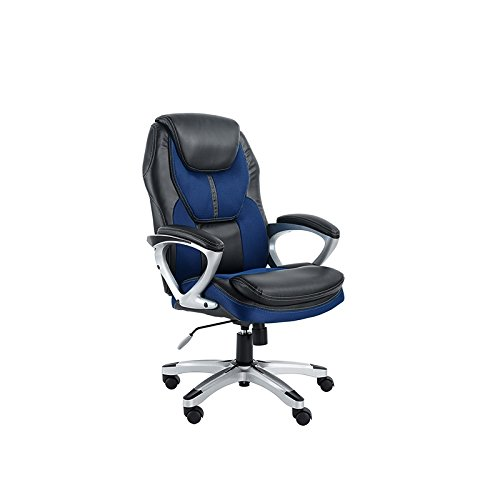 Serta Works Executive Office Chair, Faux Leather and Mesh, Streamline (Executive Fabric Faux Leather)