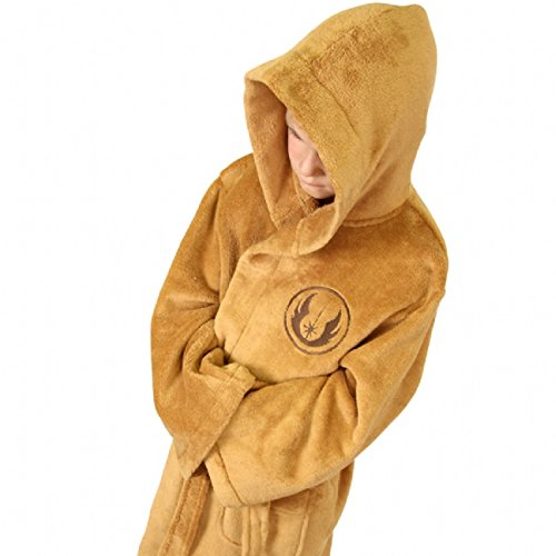 Star Wars Jedi - Fleece Robe Tan - Kids Small  merchandise - Import It All 0a346c93c