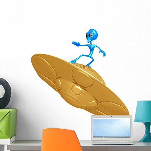 Wallmonkeys Alien Surfing Peel and Stick Wall Decals WM11...