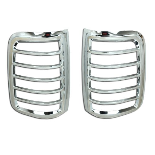 Razer Auto Chrome Tail Light Bezel Trim Cover for 2004-2008 Ford F150 Styleside ()