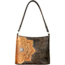 Trinity Ranch Hobo Purses by Montana West Partial Leather Flower Mandala Handbags TR58-918