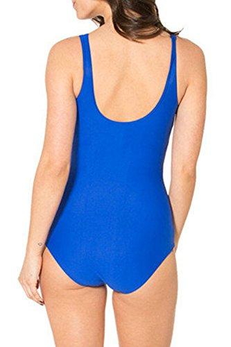 La Mujer Traje De Baño Monokini De Una Pieza De Baño Bikini Push Up Sapphire