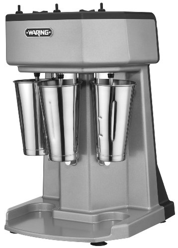 (Waring Commercial WDM360 Heavy Duty Diecast Metal Triple Spindle Drink Mixer)