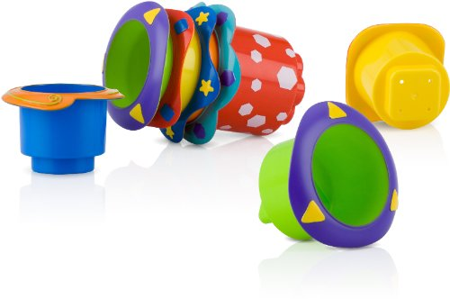 5-Pack Splish Splash Stacking Cups Case Pack 24 from Nuby