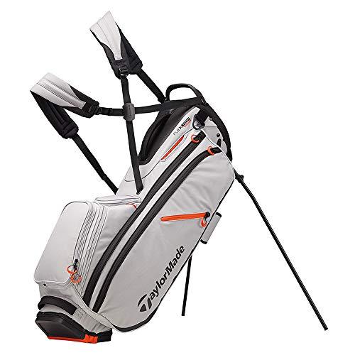 TaylorMade 2019 Flextech Crossover Stand Golf Bag, Silver/Blood Orange (Best Carry Golf Bag With 14 Dividers)