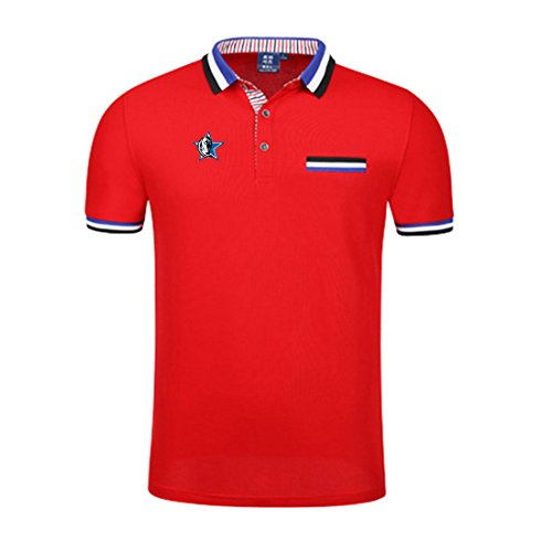 Godsent A-4 Unisex Well Performance Pocket Style Sport T-shirt++Cool Basketball Logo Printed Polo Shirt-R-M