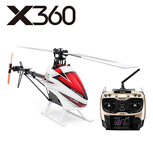 ALZRC X360 Fast FBL 6CH Smart RC Helicopter Toys 6CH RC Helicopter GPS RTF Heli 3D 6-axis-Gyro Flybarless Smart RC Helicopter 2.4GHZ (X360 GPS RTF)