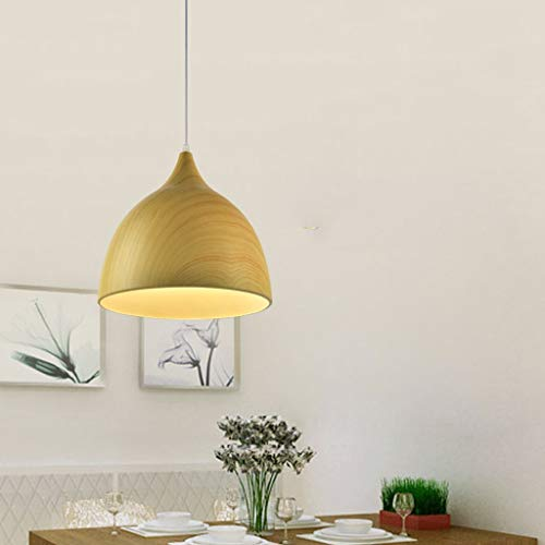 min MinMin Modern Home Ceiling Lamps, Chandelier Chandelier Lighting [Energy Class A +] Personality Simple Teak Color (Color : E, Size : ()