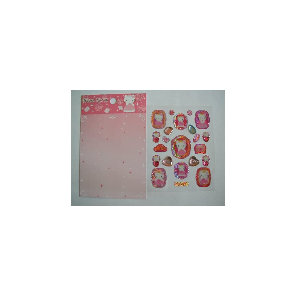 Hello Kitty Cat Pink Cell Phone / Jewelry Stickers (2 Designs)   Great Gift Giving Idea for Women and Girls
