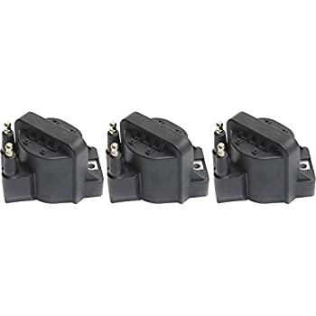 Evan-Fischer EVA13872064920 Set of 3 Coil pack Ignition Coil for Buick Allure 2005-2009 12V 2-prong male Stud Terminal