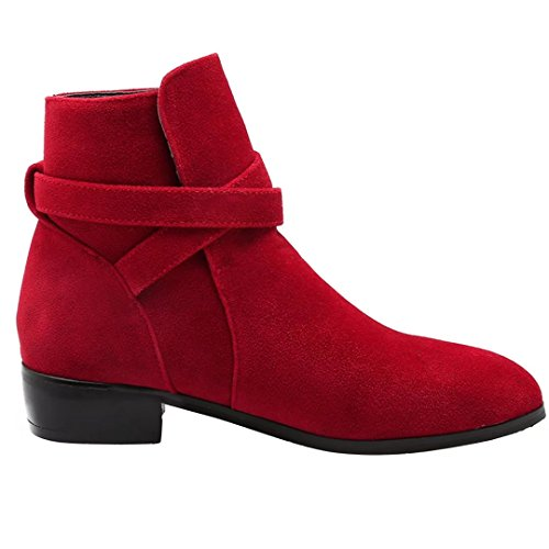 AIYOUMEI Women's Classic Boot Red eQduOlv