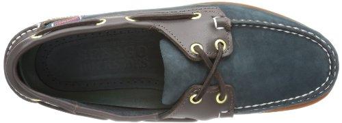 Sebago ENDEAVOR, Scarpe da barca uomo Blu (Navy Nbk/Brown Lea)