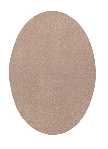 Bright House Solid Color Oval Shape Beige 5X8 Oval Shape   Area Rug