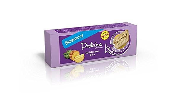 BICENTURY galletas proteína con piña paquete 144 gr: Amazon ...