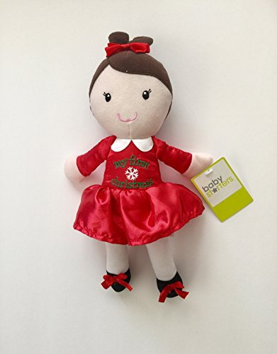 "Baby Starters 12"" My First Christmas Plush Doll"