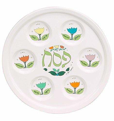 Porcelain Seder Plate Artistic Flower Design 10