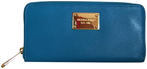 Michael Kors ZA Continental Summer Blue Leather Clutch Wallet by Michael Kors