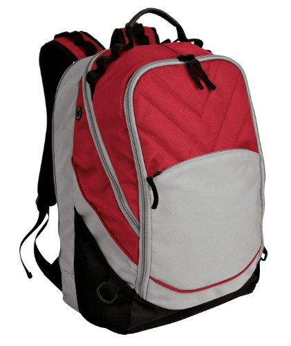 Black Red Gray Notebook Case - Port Authority luggage-and-bags Xcape Computer Backpack OSFA Red/Grey/Black