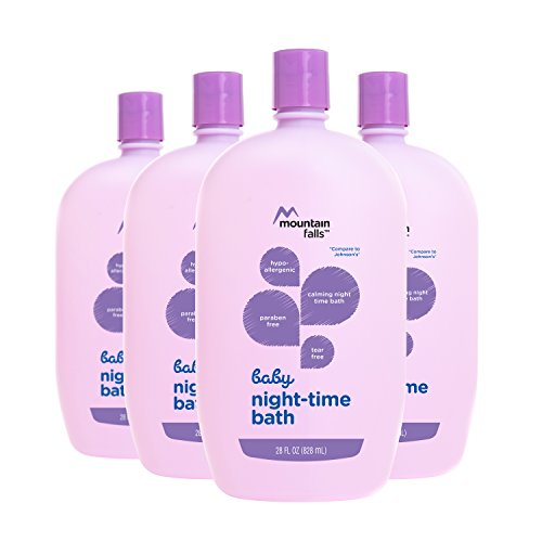 Fall Releases (Mountain Falls Hypoallergenic Tear-Free Baby Night-Time Bath, Compare to Johnson's, 28 Fluid Ounce (Pack of 4))