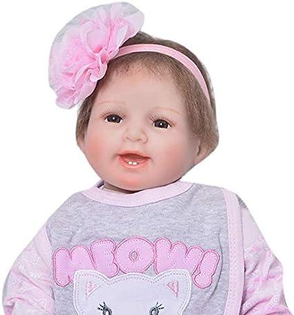"22/"" Reborn Baby Dolls Vinyl Silicone Girl Realistic Newborn Birth Gift Toddler"