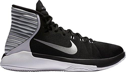 Damen Nike Prime Hype DF 2016 Basketballschuh Schwarz / Weiß / Silber