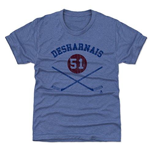 500 LEVEL New York Hockey Youth Shirt - Kids X-Small (4-5Y) Tri Royal - David Desharnais New York R Sticks B
