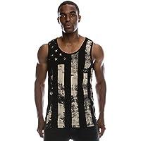 Mens Hipster Hip Hop Americano Bandera de EE. UU. Crewneck Tank parte superior Collection