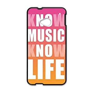 HTC One M7 Cell Phone Case Black Know Music Know Life LSO7880637