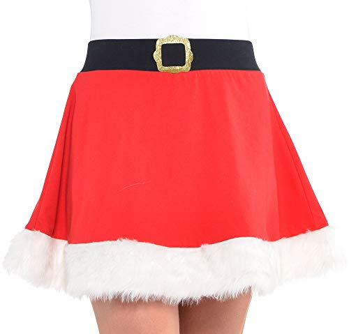 amscan Santa Skater Skirt - Adult One Size Fits Most -