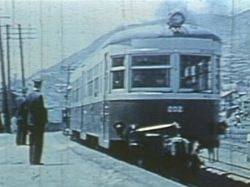Last train of railway Sapporo Television Broadcasting switch back north (japan import)