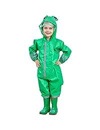 Zilee Kids Rainsuit Waterproof Jumpsuit Coverall Raincoat Rainwear All-in-One Suit