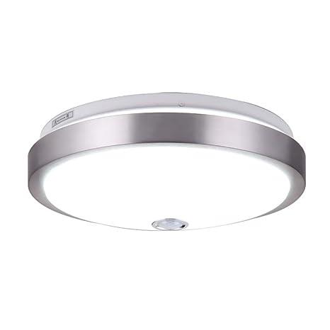 LED techo lámpara de techo de luz humana con sensor de movimiento, sensor de cuerpo