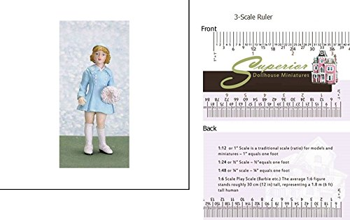 Dollhouse Miniature Abby, Girl W/coat