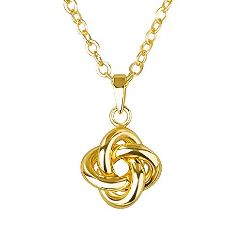 LAVILI Initial Necklace Triquetra Necklace Dainty Necklace for Women with Gift Box Trinity Knot Necklace Celtic Knot Necklace Love Knot Necklace for Women Knotted Necklace Gordian Knot -