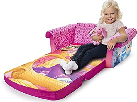 Childrens 2 in 1 Flip Open Foam Sofa Disney Princess Flip Open Sofa Marshmallow Furniture