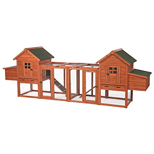Trixie Pet Products Chicken Coop Duplex with Outdoor Run,...