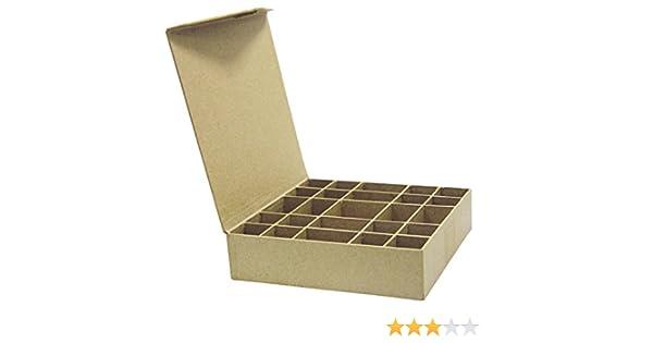 Decopatch Mache - Caja para Anillos o Botones (25 Compartimentos): Amazon.es: Hogar