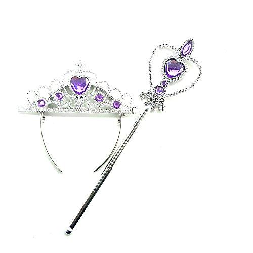 [DailyProposal Princess Tiara & Wand Set USA (Purple)] (Sofia The First Costume For Adults)