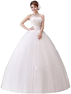 Clover Bridal 2017 New Design Strapless Applique Beaded Pleats Ball Gown Wedding Dress Ivory Pure White