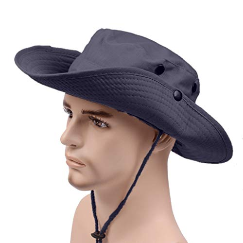 Fisherman Hat Casual Outdoor Mountaineering Hat Sunshade Hat Sun Protection Cap Navy