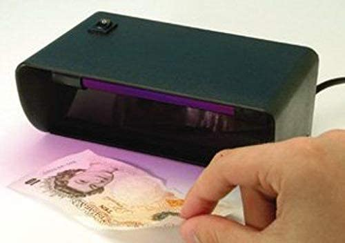 Helix Professional Quality 4W UV Light Fake Counterfeit Money Bank Paper Polymer Note Detector Checker for Holograms-Watermarks-Metallic Strips and All Hidden Ultraviolet Features FN1040