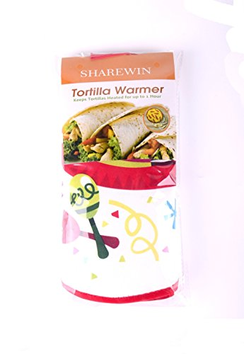 """Tortilla Warmer 10.5""""-Insulated Fabric Pouch - Keeps warm for 1 hour (1, Color-18)"""