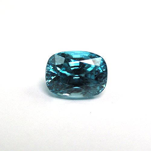 Natural Cambodian Blue Zircon Oval Cushion Cut 9x6.3mm Approximately 4.23 Carat Single Piece (11028) ()
