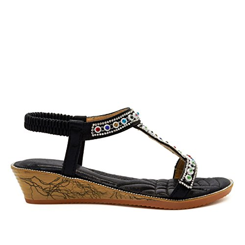 Footwear London a Noir bride femme Uxq6d