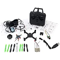 Gotd DIY Assembly Remote Control 2.4G 4CH 6-Axis Gyro UAV RC Aircraft Wifi Camera FPV Quadcopter Drone