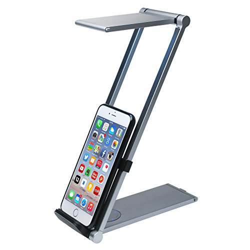 CTA Digital Foldable LED Desk Lamp Stand for Smartphones & Tablets up to 11.25'' in Length PAD-FLD by CTA Digital (Image #1)