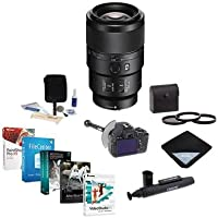 Sony FE 90mm F2.8 Macro G E-mount NEX Camera Lens Bundle with 62mm Filters, Pro Software